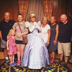 Visiting Cinderella at Disney Orlando