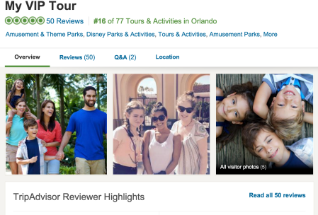 My VIP Tour Trip Advisor Reviews